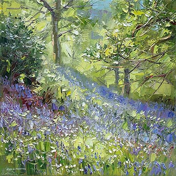 Sunlit Bluebells, Low Wood, Buttermere